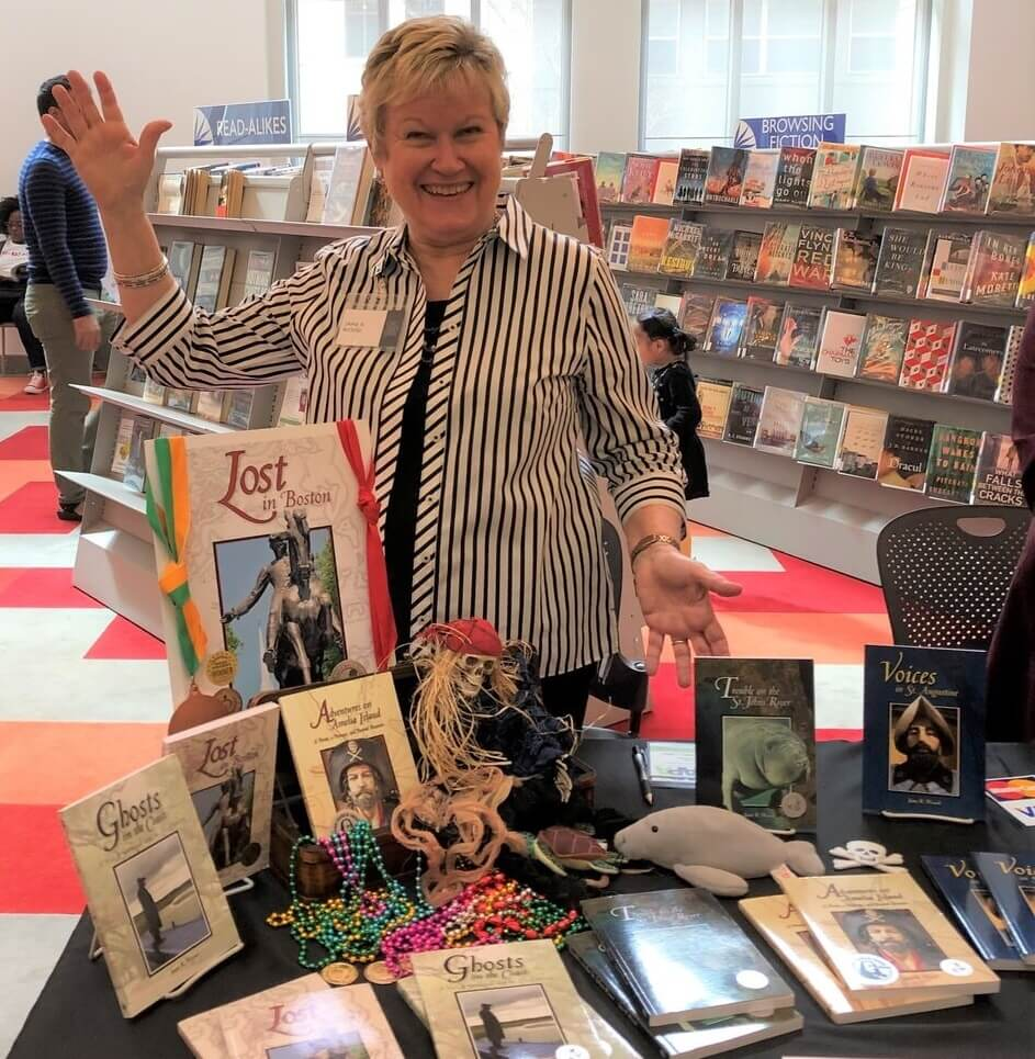 Author Jane R Wood at the Jax Book Fest 2019